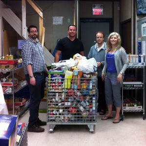 Thank you to EIA staff for helping to sort through the Canada Day Food Drive donations on July 2.